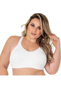 Top Plus Size Com Bojo - Feminino-Branco