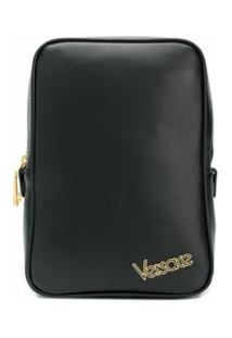 Versace Mochila Com Logo - Preto