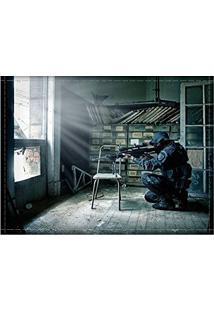 Jogo Americano Decorativo, Criativo E Descolado | Sniper - Tamanho 30 X 40 Cm