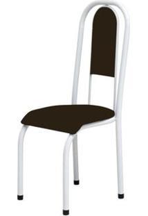Cadeira Anatômica 0.122 Estofada Branco/Tabaco - Marcheli