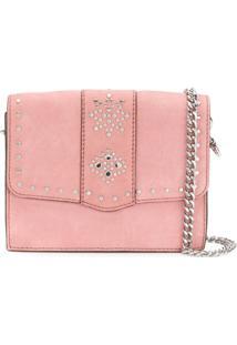 Rebecca Minkoff Studded Shoulder Bag - Rosa