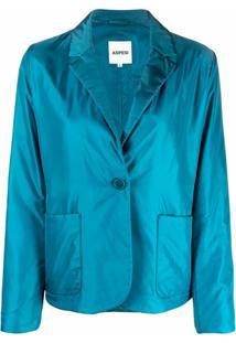 Aspesi Blazer Com Abotoamento Simples - Azul