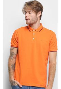 Camisa Polo Ellus Frisos Classic Masculina - Masculino-Coral