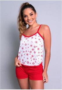 Pijama Mvb Modas Curto - Feminino-Vermelho