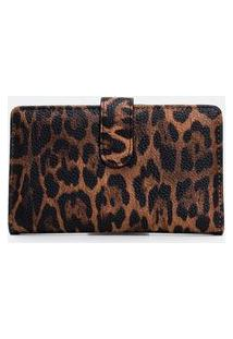 Carteira Estampa Animal Print | Satinato | Marrom | U