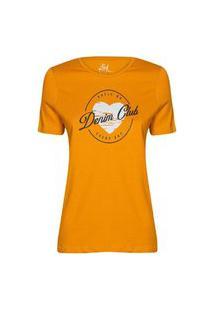 Camiseta Feminina Denim Club Mostarda