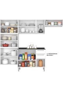 Cozinha Compacta 3 Peças Não Acompanha Balcão 10 Portas Luce Itatiaia Branco/Preto