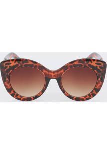 Óculos De Sol Feminino Gateado Animal Print Marisa