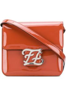 Fendi Karligraphy Shoulder Bag - Marrom
