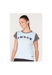 Camiseta Onbongo Feminina Estampada Azul