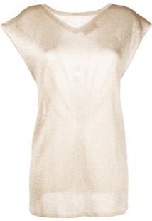 Missoni Blusa Mangas Curtas - Dourado