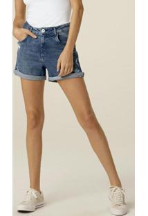Bermuda Azul Boyfriend Jeans Estonado