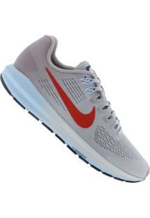 72e99d3ec66 ... Tênis Nike Air Zoom Structure 21 - Feminino - Cinza Cla Vermelho