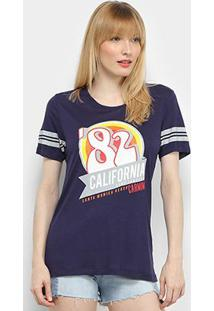 Camiseta T-Shirt Carmim California Feminina - Feminino-Marinho