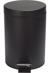 Lixeira Em Inox Com Pedal 5 Litros Preto Matte