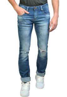 Calça Jeans Super Skinny Com Rasgos Yck'S