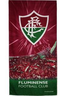Toalha De Banho Fluminense Bouton Veludo Torcida - Unissex