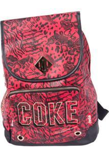 Bolsa Coca-Cola De Costas Animal Mix Vermelho T Un