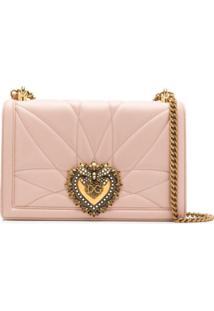 Dolce & Gabbana Bolsa Transversal Devotion Grande - Rosa