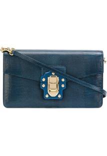 Dolce & Gabbana Bolsa Transversal 'Lucia' De Couro - Azul