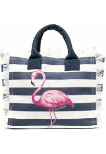 Mc2 Saint Barth Bolsa Flamingo De Canvas - Branco