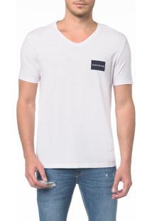 Camiseta Ckj Mc Estampa Quadrado Peito - Pp