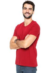 Camiseta Hering Gola V Vermelha