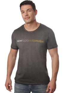 Camiseta Casual Em Agodão 4J Nem Tudo Me Convém - Masculino