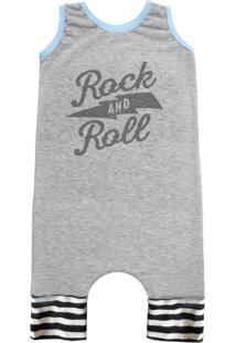 Pijama Regata Comfy Rock And Roll Cinza