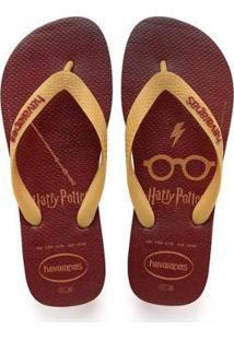 Chinelo Havaianas Harry Potter Masculino - Masculino-Amarelo+Vermelho
