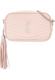 Saint Laurent Lou Crossbody Bag - Rosa