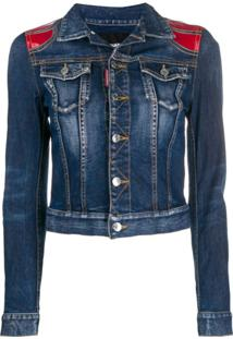 Dsquared2 Contrast Denim Jacket - Azul