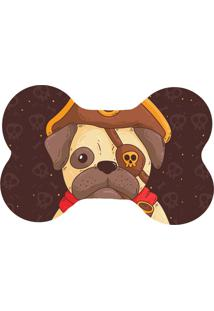 Tapete Wevans Pet Pug Pirata Marrom