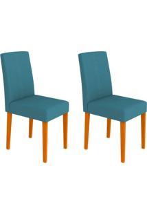 Conjunto Com 2 Cadeiras Heloíse Ipê E Azul