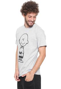 Camiseta Snoopy Charlie Brown Cinza