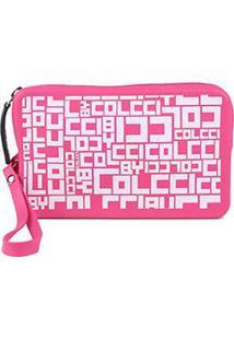 Carteira Colcci California Full Print - Feminino-Rosa+Pink