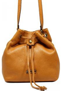 Bolsa Em Couro Transversal Recuo Fashion Bag Amarelo
