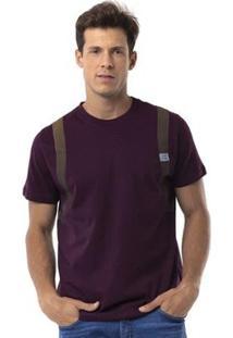 Camiseta Long Island Bag Masculino - Masculino-Vinho