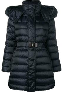 Max Mara Hooded Down Jacket - Azul