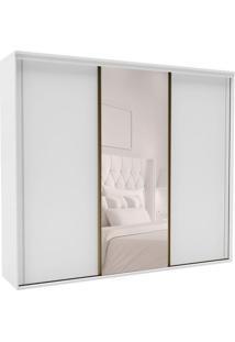Guarda-Roupa Casal Com Espelho Inovatto Ll 3 Pt 6 Gv Branco