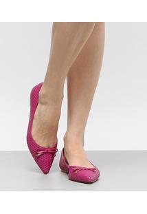 Sapatilha Couro Shoestock Tressê Bico Fino Feminina - Feminino
