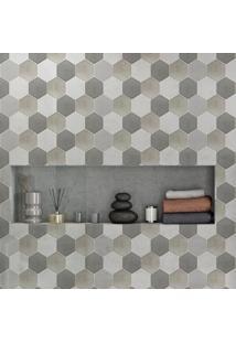 Papel De Parede Lavável Cimento Hexagonal