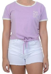 Blusa Hang Loose Baby Look - Roxo / P