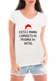 Camiseta Feminina Frases Engraçadas De Natal Presente Branca