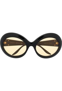 Gucci Eyewear Interlocking G Round-Frame Sunglasses - Preto