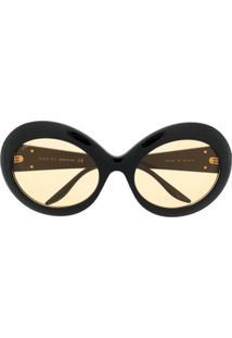 Gucci Eyewear Óculos De Sol Redondo Interlocking G - Preto