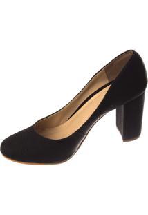 Scarpin Salto Butique De Sapatos Estilo Boneca Preto
