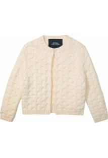 Marc Jacobs Cardigan Decote Careca De Tricô - Branco