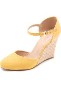 Sandália Dafiti Shoes Anabela Amarela