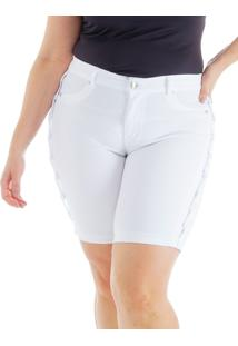 Bermuda Special Colorida Com Trançado Lateral Loony Jeans